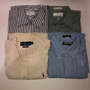 Mens 16.5 32/33 Dress Shirt Lot Of 4